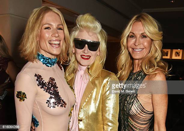Tuuli Shipster Pam Hogg and Melissa Odabash attend the Scottish Fashion Awards in association with Maserati at Rosewood Hotel on October 21 2016 in...