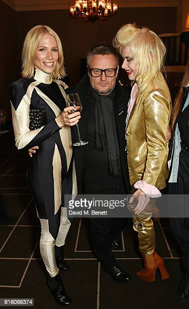 Tuuli Shipster Rankin and Pam Hogg attend the Scottish Fashion Awards in association with Maserati at Rosewood Hotel on October 21 2016 in London...