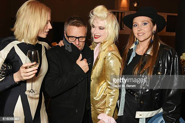 Tuuli Shipster Rankin Pam Hogg and guest attend the Scottish Fashion Awards in association with Maserati at Rosewood Hotel on October 21 2016 in...