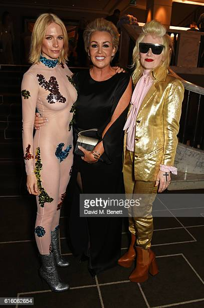Tuuli Shipster Tessa Hartmann and Pam Hogg attend the Scottish Fashion Awards in association with Maserati at Rosewood Hotel on October 21 2016 in...