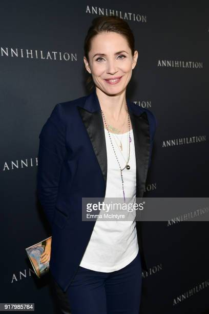 Tuva Novotny attends the premiere of Paramount Pictures' 'Annihilation' at Regency Village Theatre on February 13 2018 in Westwood California