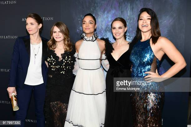 Tuva Novotny Jennifer Jason Leigh Tessa Thompson Natalie Portman and Gina Rodriguez attend the premiere of Paramount Pictures' 'Annihilation' at...