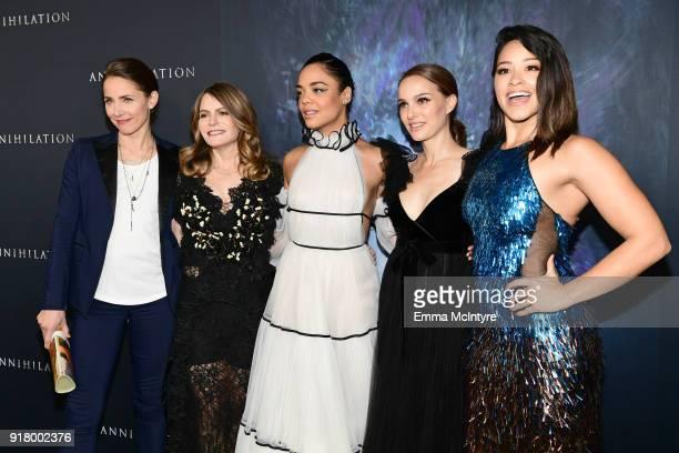 Tuva Novotny Jennifer Jason Leigh Tessa Thompson Natalie Portman and Gina Rodriguez attend the premiere of Paramount Pictures' 'Annihilation' at...