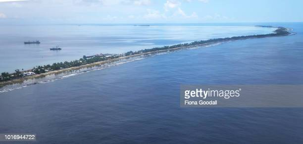 Tuvalu's main island where the majority of the country's population reside on August 15 2018 in Funafuti Tuvalu The small South Pacific island nation...