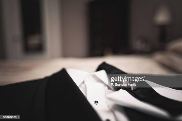 Tuxedo on Bed