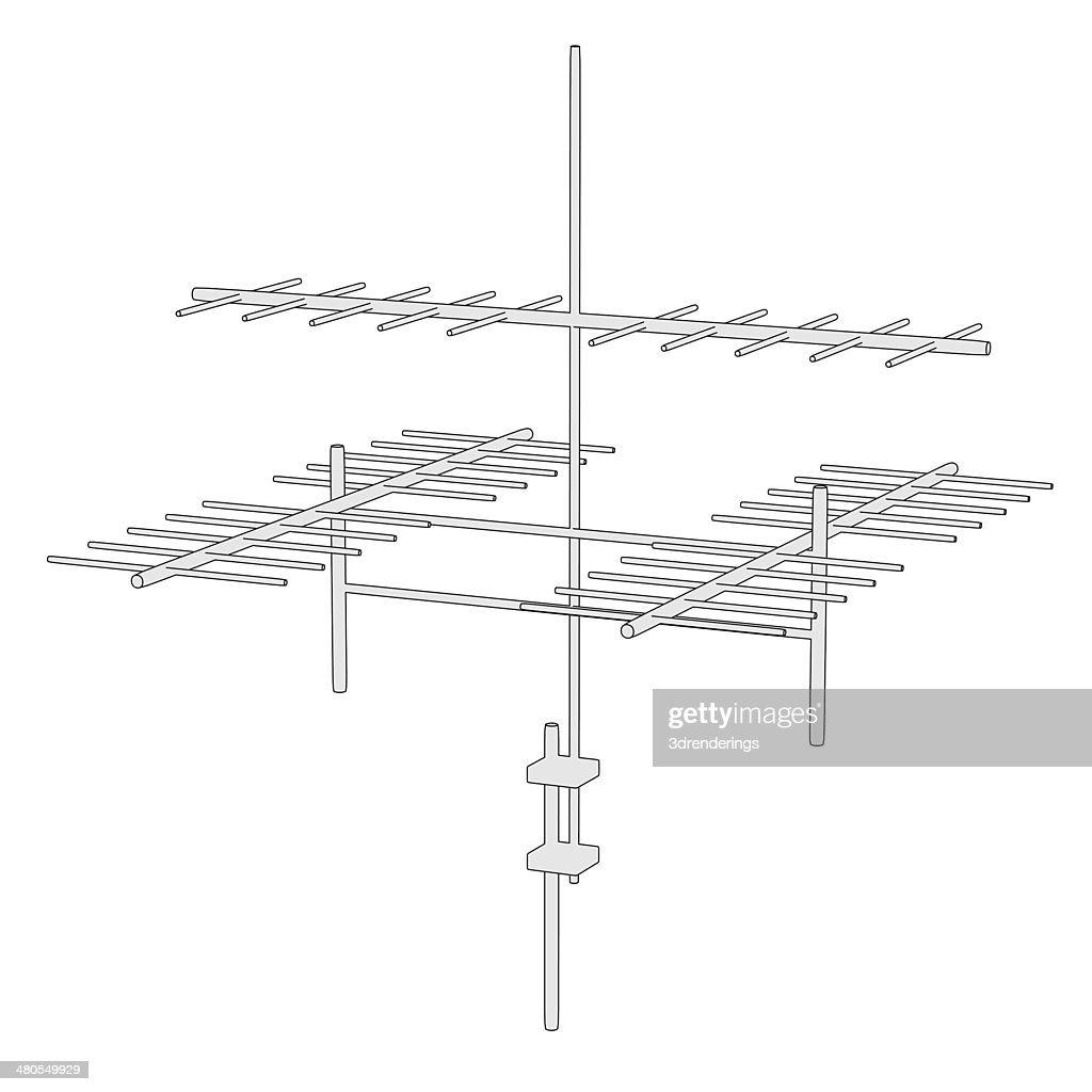 tv antenne : Foto de stock