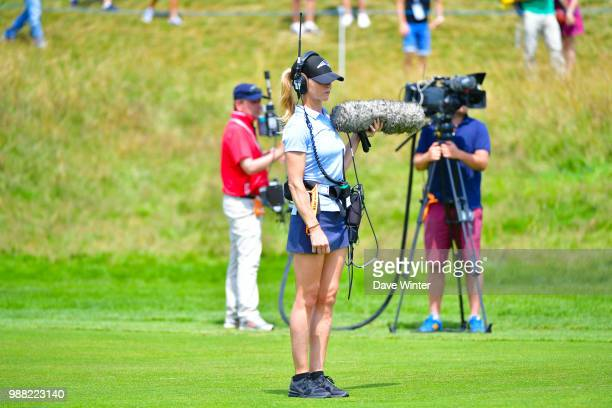 A tv crew during the HNA French Open on June 30 2018 in SaintQuentinenYvelines France