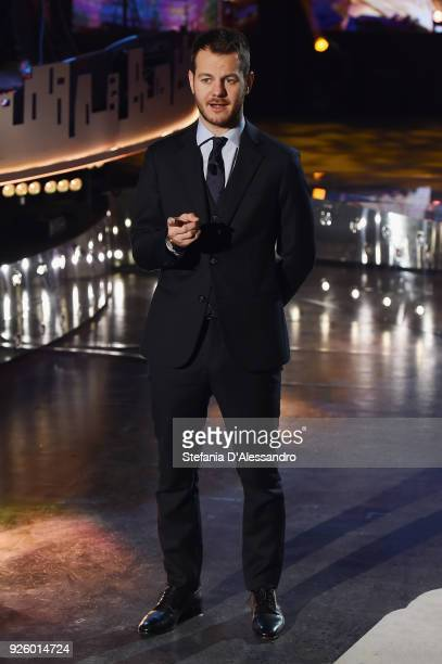 Tv host Alessandro Cattelan attends 'E Poi C'e' Cattelan Tv Show' on March 1 2018 in Milan Italy