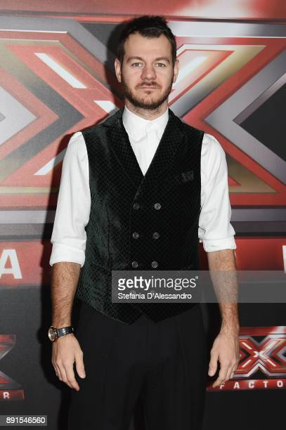 Tv host Alessandro Cattelan attends the X Factor 11 Finale press conference on December 13 2017 in Milan Italy