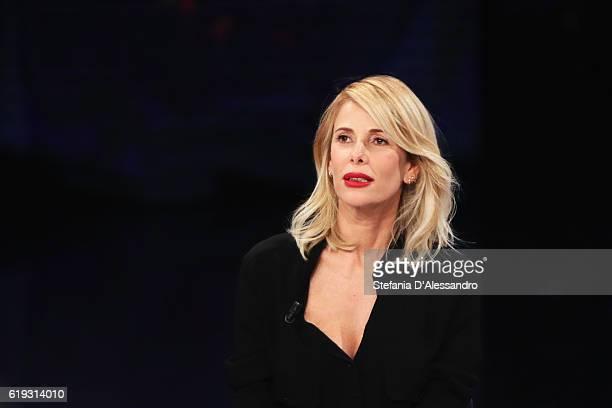 Tv host Alessia Marcuzzi attends 'Che Tempo Che Fa' tv show on October 30 2016 in Milan Italy