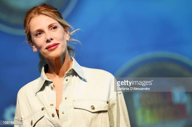 Tv host Alessia Marcuzzi attends L'Isola Dei Famosi 2019 photocall on January 22 2019 in Milan Italy