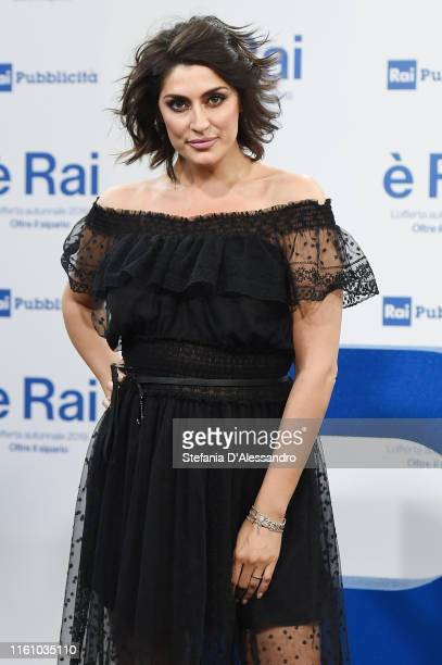 Tv host Elisa Isoardi attends the Rai Show Schedule presentation on July 09 2019 in Milan Italy