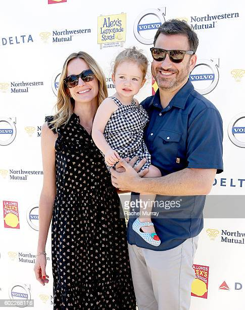 Tv host Jimmy Kimmel wife Molly McNearney and daughter Jane Kimmel attend the 7th annual LA Loves Alex's Lemonade at UCLA on September 10 2016 in Los...