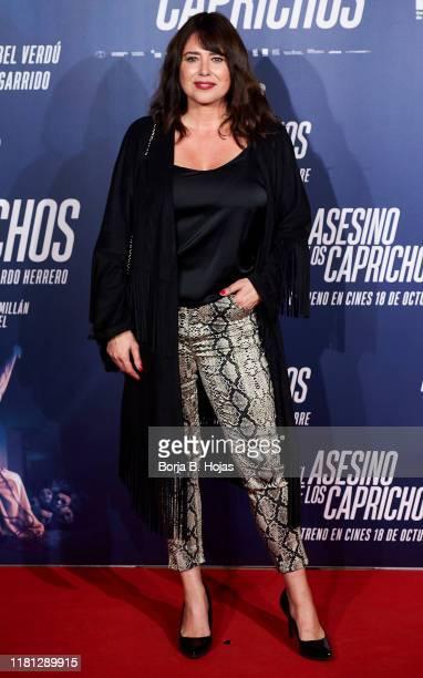 Tv Host Minerva Piquero attends the premiere of 'El Asesino de los Caprichos' on October 15 2019 in Madrid Spain