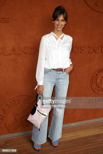 Tv host Ophelie Meunier attends the 2018 French Open Day Eight at Roland Garros on June 3 2018 in Paris France
