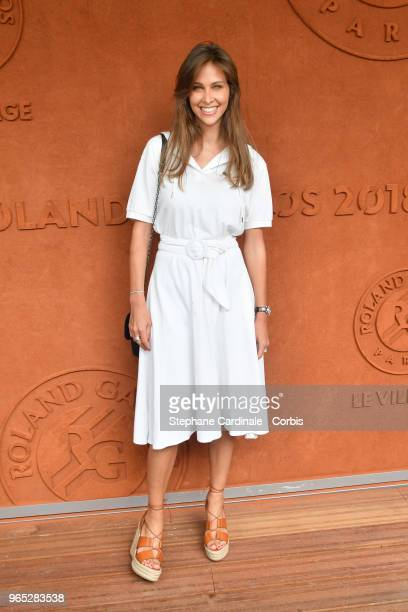 Tv host Ophelie Meunier attends the 2018 French Open Day Six at Roland Garros on June 1 2018 in Paris France