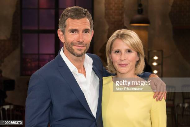 Tv hosts Micky Beisenherz and Susan Link attend the Koelner Sommer Treff TV Show at the WDR Studio on July 17 2018 in Cologne Germany