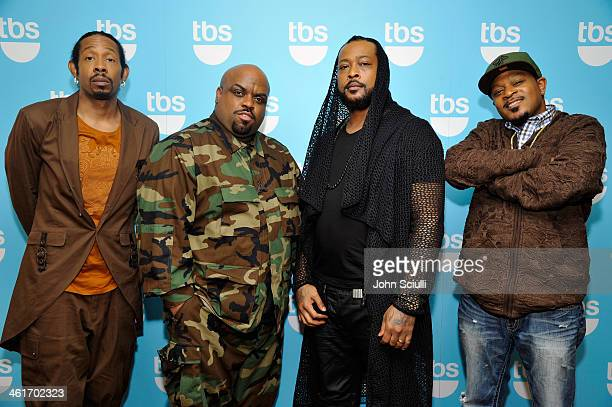 Tv personalities Big Gipp, CeeLo Green, Khujo and T-Mo attend the 2014 TCA Winter Press Tour Turner Broadcasting Presentation on January 10, 2014 in...