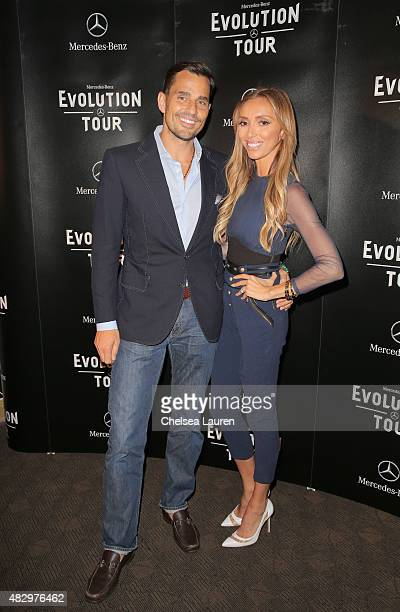 Tv personalities Bill Rancic and Giuliana Rancic attend the MercedesBenz 2015 Evolution Tour on August 4 2015 in Los Angeles California