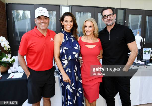 Tv personalities Frank Buckley, Lu Parker, Kacey Montoya and Lawrence Zarian attend Fix'N Fidos inaugural charity golf tournament at Industry Hills...