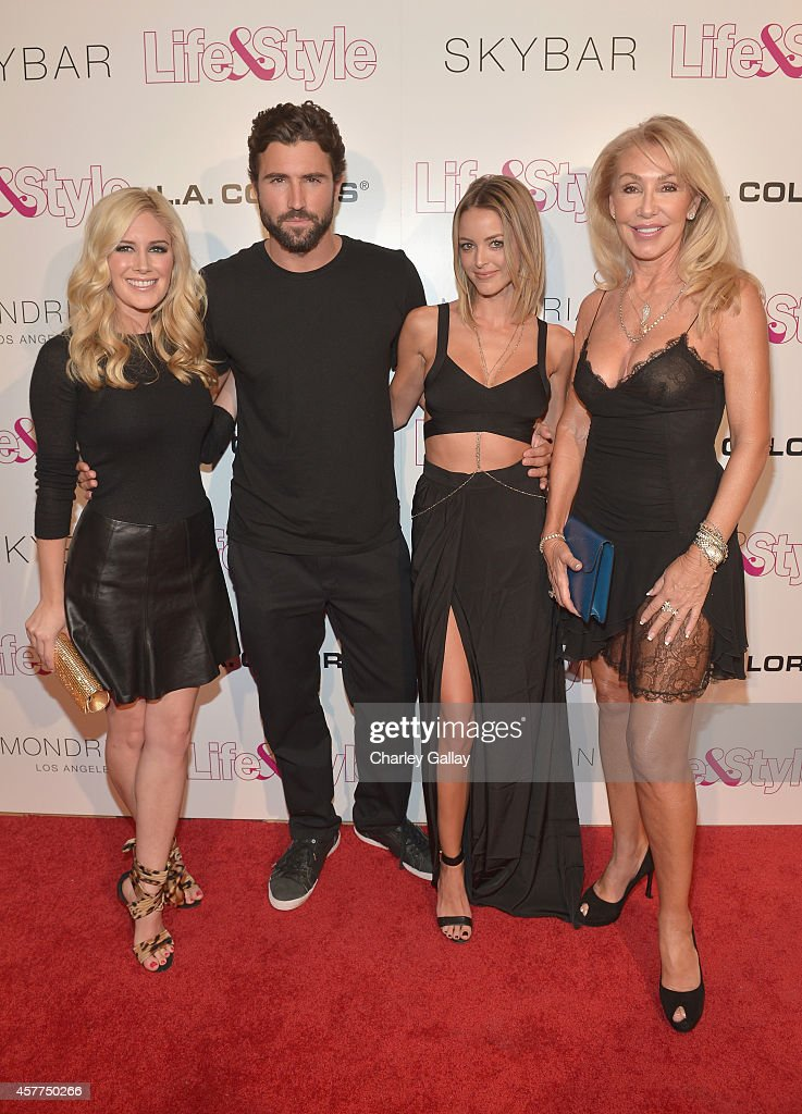 Tv Personalities Heidi Montag, Brody Jenner, Kaitlynn Carter, and Linda Thompson attend Life & Style Weekly's 10 Year Anniversary party at SkyBar at the Mondrian Los Angeles on October 23, 2014 in West Hollywood, California.