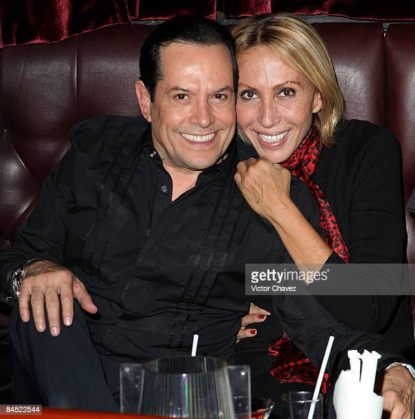 Tv personalities Juan Jose Origel and Laura Cecilia Bozzo attends the Liverpool Baby Phat clothing line launch at Hyde Club on January 27 2009 in...