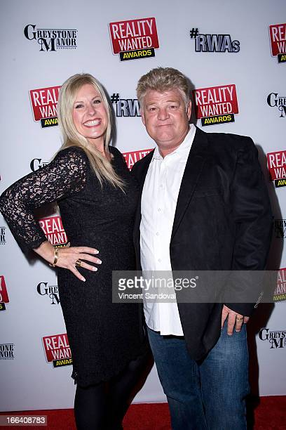 Tv personalities Laura Dotson and Don Dotson attends the 1st annual 'RealityWanted' Reality TV Awards show at Greystone Mansion on April 11 2013 in...