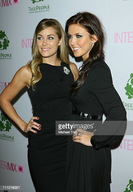 Tv personalities Lauren Conrad and Audrina Patridge arrives at the Intermix Boutique store opening at the Intermix Boutique store on September 25...