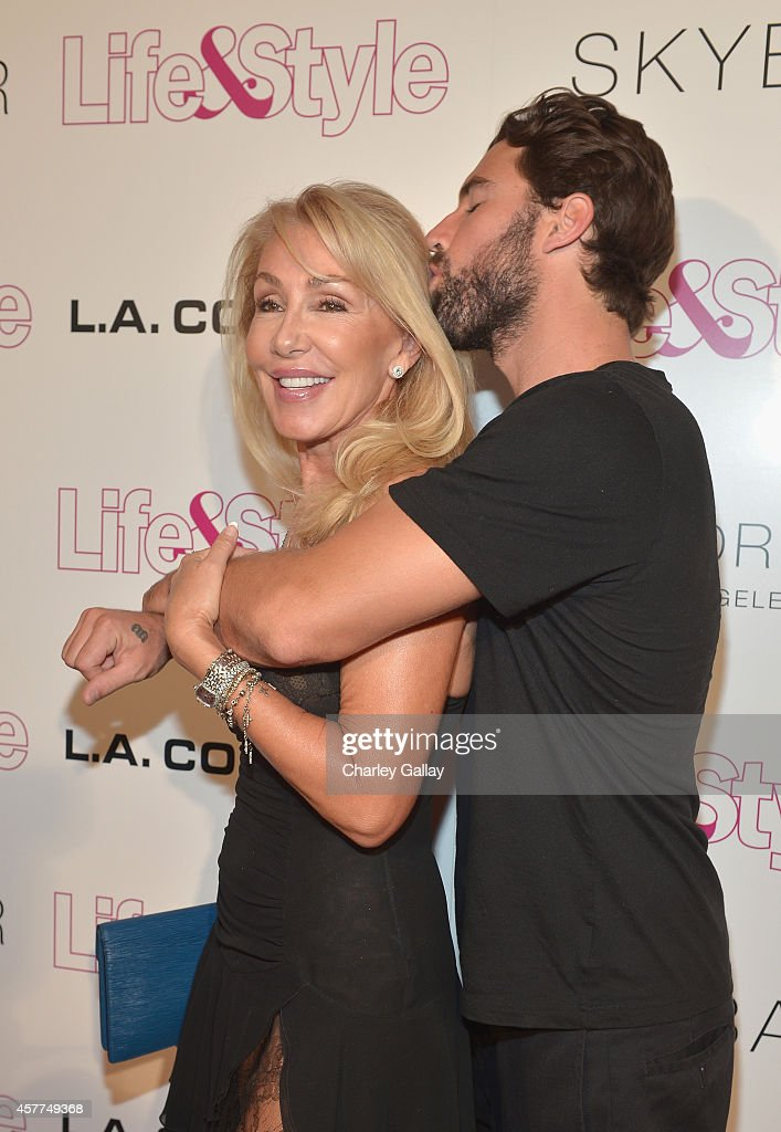 Tv personalities Linda Thompson (L) and Brody Jenner attend Life & Style Weekly's 10 Year Anniversary party at SkyBar at the Mondrian Los Angeles on October 23, 2014 in West Hollywood, California.