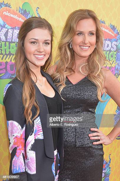 Tv personalities Sadie and Korie Robertson attend Nickelodeon's 27th Annual Kids' Choice Awards held at USC Galen Center on March 29 2014 in Los...
