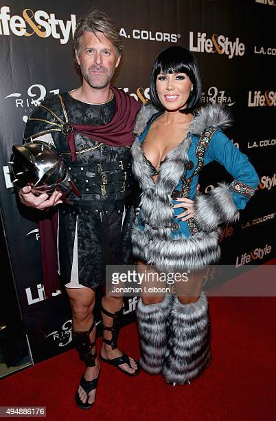 Tv personalities Slade Smiley and Gretchen Rossi attend Life Style Weekly's Eye Candy Halloween Bash hosted by LeAnn Rimes at Riviera 31 at Sofitel...