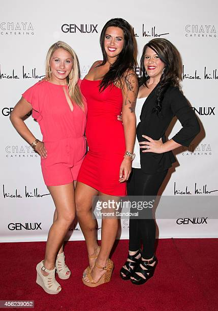 Tv personalities Tiffany Heinen Mattie Breaux and Lauren White attend the Genlux Magazine issue release party with cover girl Taryn Manning at Bootsy...