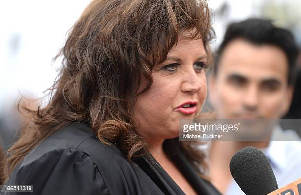 Tv personality Abby Lee Miller attends the 2013 NewNowNext Awards at The Fonda Theatre on April 13 2013 in Los Angeles California