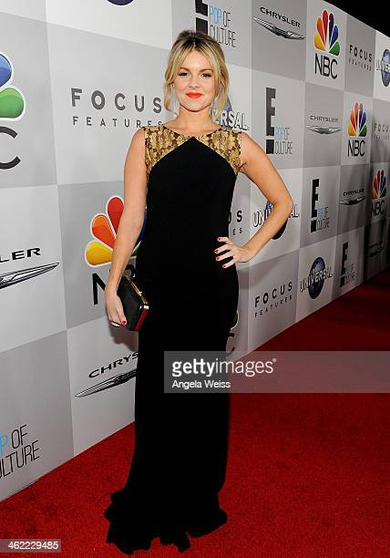 Tv personality Ali Fedotowsky attends the Universal NBC Focus Features E sponsored by Chrysler viewing and after party with Gold Meets Golden held at...