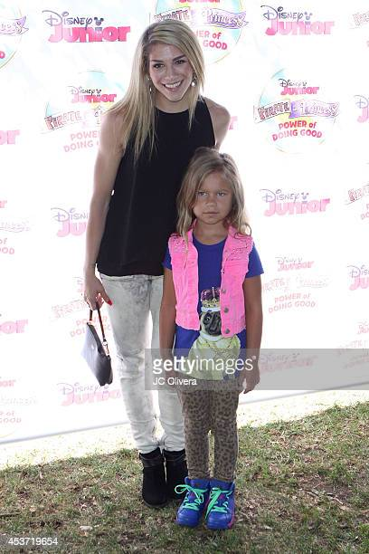 Tv personality Allison Holker and her daughter Weslie Fowler attend Disney Junior's Pirate And Princess Power Of Doing Good Tour at Brookside Park on...