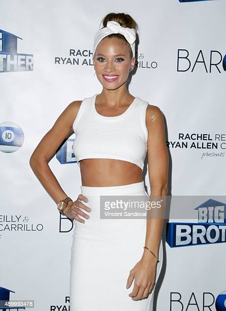 Tv personality Amber Borzotra attends CBS's 'Big Brother Season 17' cast party at Bar10 on September 24 2015 in West Hollywood California