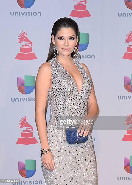 Tv personality Ana Patricia poses backstage during The 14th Annual Latin GRAMMY Awards at the Mandalay Bay Events Center on November 21 2013 in Las...