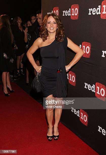 Tv personality Andrea Legarreta attends the Social Media Fest cocktail party at Masaryk Polanco on October 27 2011 in Mexico City Mexico