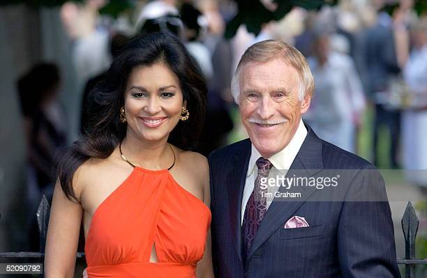 Tv Personality Bruce Forsythe And Wife Wilnelia At A Celebrity Party Hosted By Broadcaster Sir David Frost In Chelsea