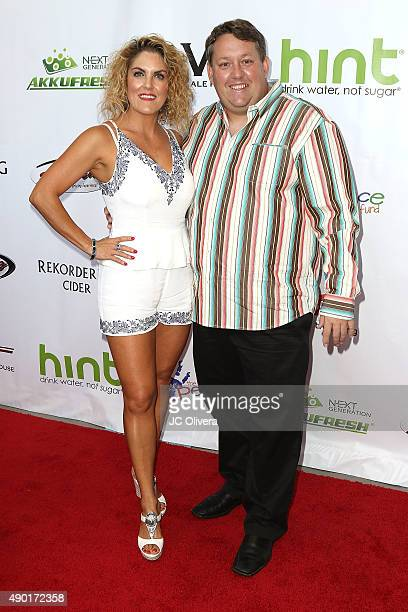 Tv personality Casey Nezhoda and Renee Nezhoda attends The Peace Fund annual charity celebrity poker tournament on September 26 2015 in Playa Vista...