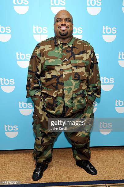 Tv personality CeeLo Green attends the 2014 TCA Winter Press Tour Turner Broadcasting Presentation on January 10 2014 in Pasadena California