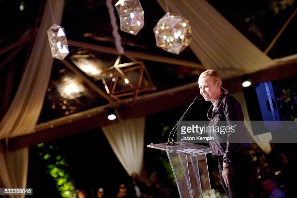 Tv personality Chelsea Handler speaks onstage during The Heart Foundation 20th Anniversary Event honoring Discovery Land Company's Mike Meldman at...