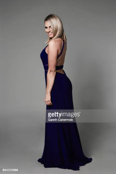 Tv personality Danielle Armstrong is photographed at the National Television Awards on January 25 2017 in London England