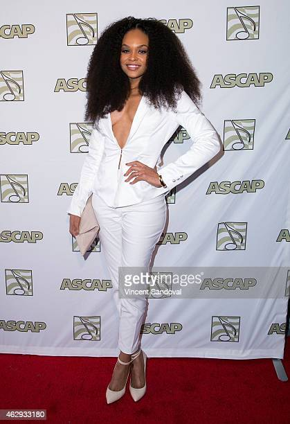 Tv personality Demetria McKinney attends ASCAP presents the 2015 GRAMMY Nominees brunch at SLS Hotel on February 7 2015 in Los Angeles California