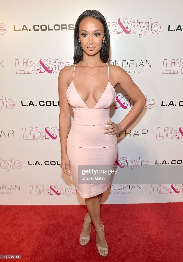 Tv Personality Draya Michele attends Life & Style Weekly's 10 Year Anniversary party at SkyBar at the Mondrian Los Angeles on October 23, 2014 in West Hollywood, California.