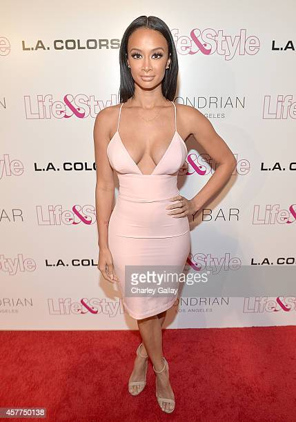 Tv Personality Draya Michele attends Life Style Weekly's 10 Year Anniversary party at SkyBar at the Mondrian Los Angeles on October 23 2014 in West...