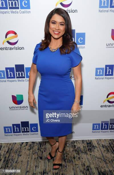 Tv personality Dunia Elvir attends the NHMC's 17th Annual Los Angeles Impact Awards luncheon at Hilton Universal City on August 22 2019 in Universal...