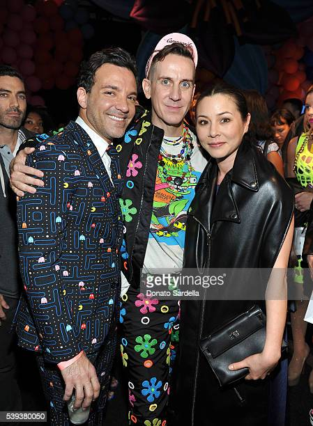 Tv personality George Kotsiopoulos Moschino Creative Director Jeremy Scott and actress China Chow attend the Moschino Spring/Summer17 Menswear and...