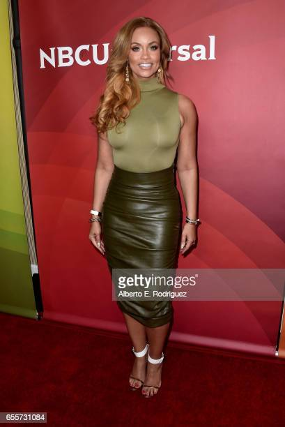 Tv personality Gizelle Bryant of 'The Real Housewives of Potomac' attends the 2017 NBCUniversal Summer Press Day at The Beverly Hilton Hotel on March...