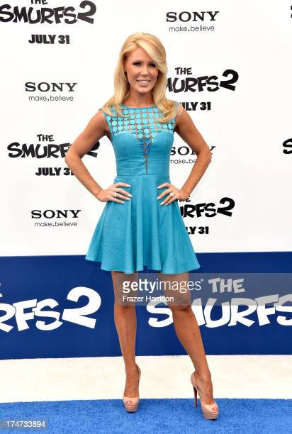Tv personality Gretchen Rossi attends the premiere of Columbia Pictures' 'Smurfs 2' at Regency Village Theatre on July 28 2013 in Westwood California